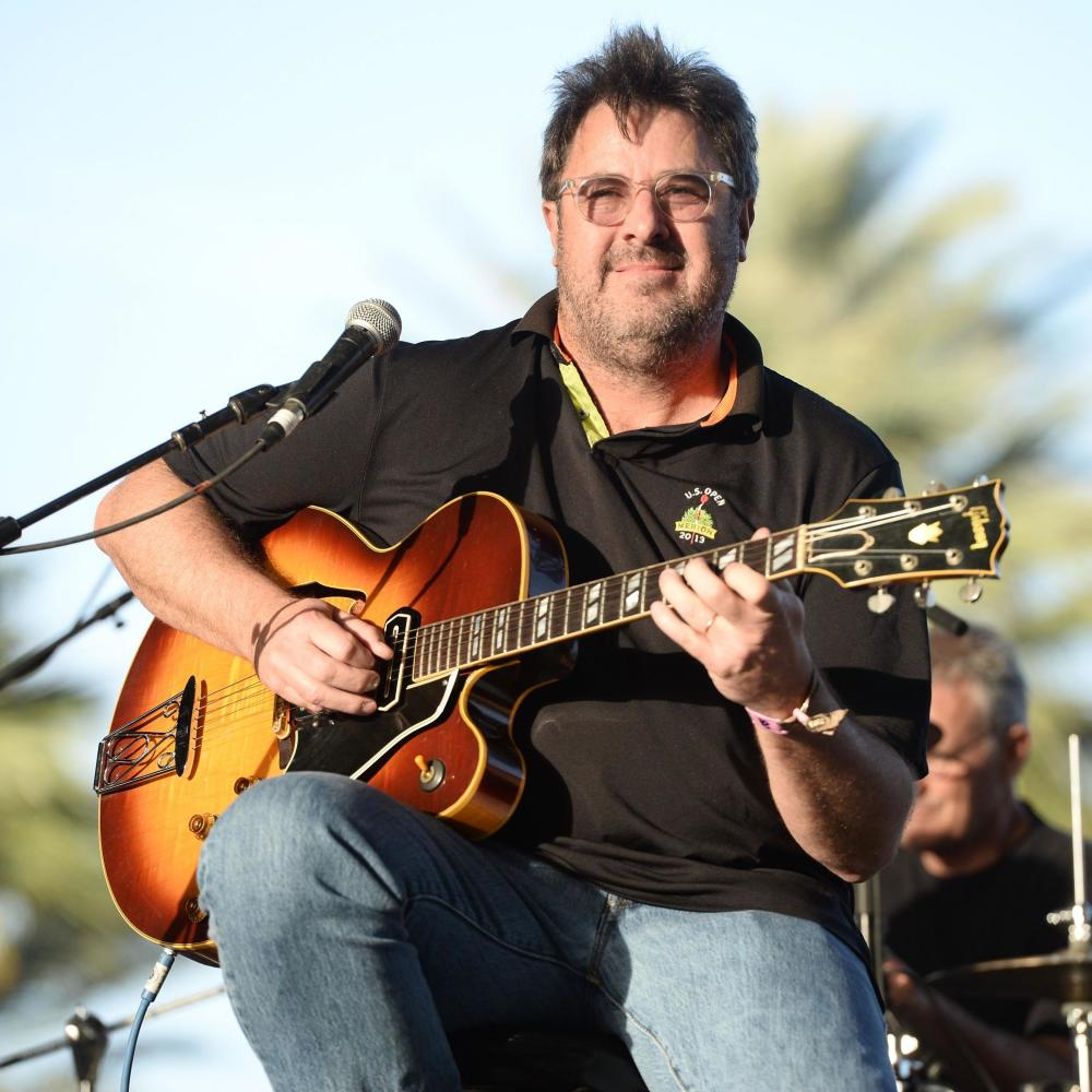 The 61-year old son of father J. Stanley Gill and mother(?) Vince Gill in 2018 photo. Vince Gill earned a 36.3 million dollar salary - leaving the net worth at 300 million in 2018